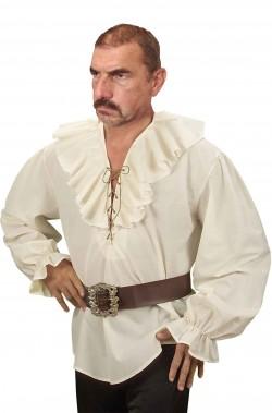 Camicia da pirata o medievale con ruches