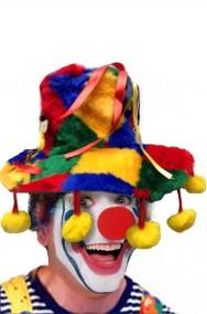 Cappello da pagliaccio grande con pendagli