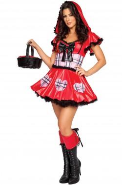 Vestito da cappuccetto rosso donna adulta corto