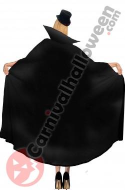 Mantello double face reversibile nero e rosso