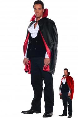 Mantello rosso e nero reversibile double face vampiro
