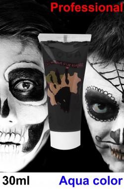 Trucco Halloween nero fondotinta