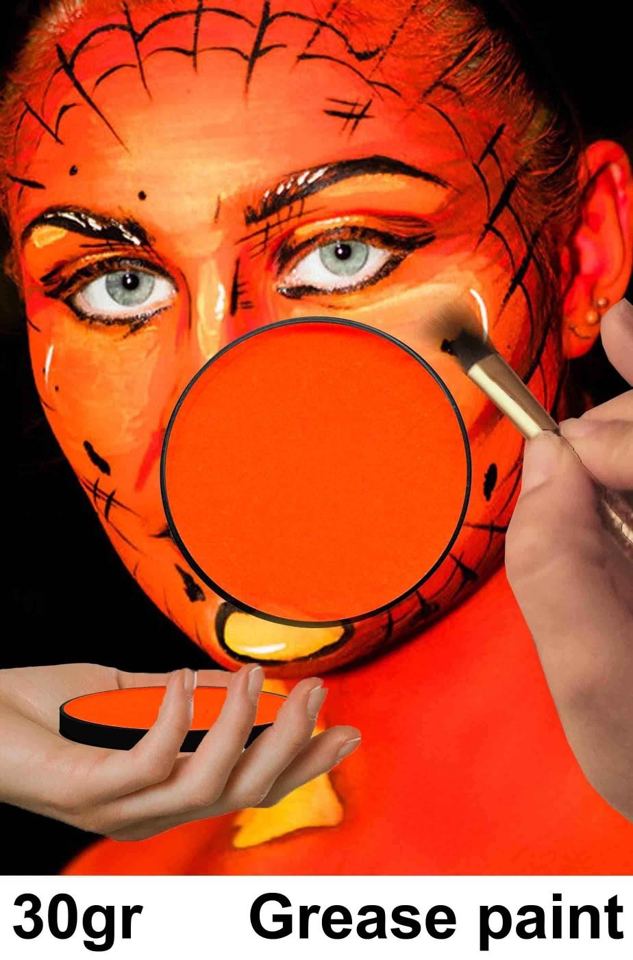 Trucco teatrale arancione zucca 30 gr