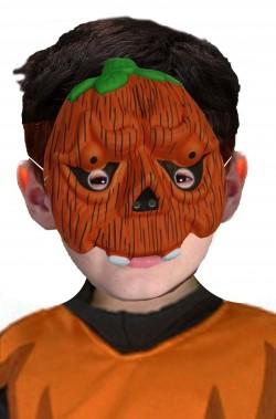 Maschera Halloween economica da zucca da bambino