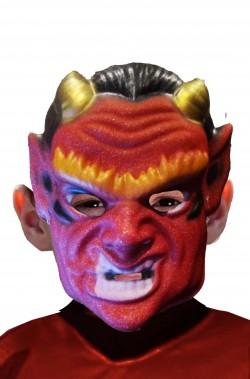 Maschera Halloween economica da bimbo diavolo