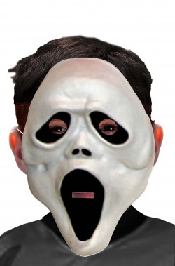 Maschera Halloween economica scream bambino