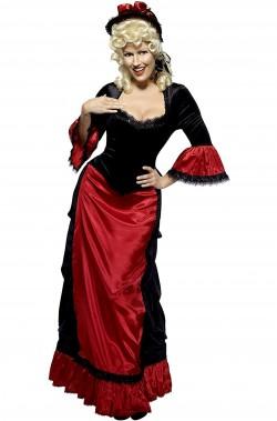 Vestito da dama vittoriana dell'800
