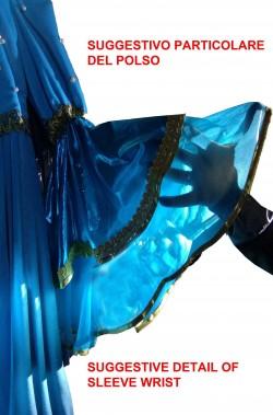 Abito donna azzurro stile storico dama medievale