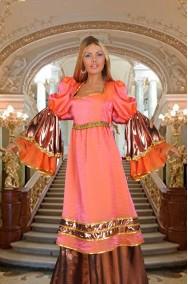 vestito da dama castellana arancione