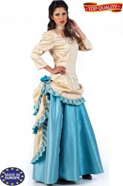 Vestito di carnevale dama vittoriana inglese