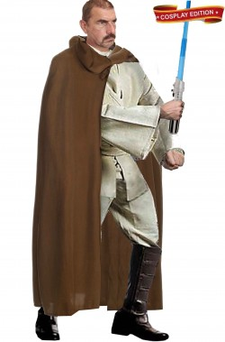 Vestito cosplay cavaliere Jedi Obi Wan Kenobi