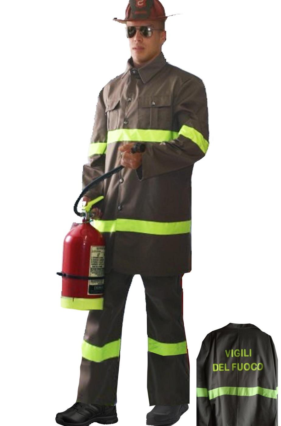 Costume divisa da pompiere vigile del fuoco italiano