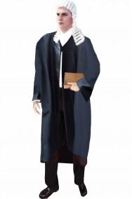 Toga nera da giudice avvocato laureato