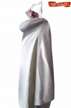 Mantello bianco arabo berbero doppia ruota