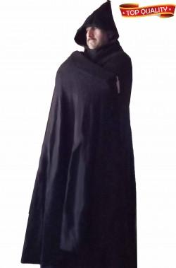 Mantello nero di lana doppia ruota arabo
