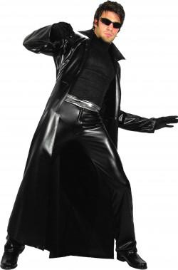 Vestito di vinile nero Neo di Matrix