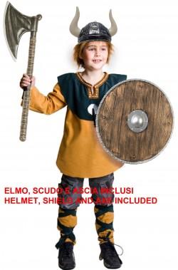 Vestito di carnevale vichingo vikings completo