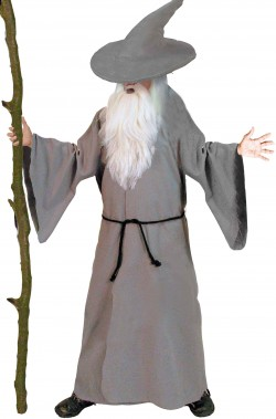 Vestito di Gandalf adulto per cosplay