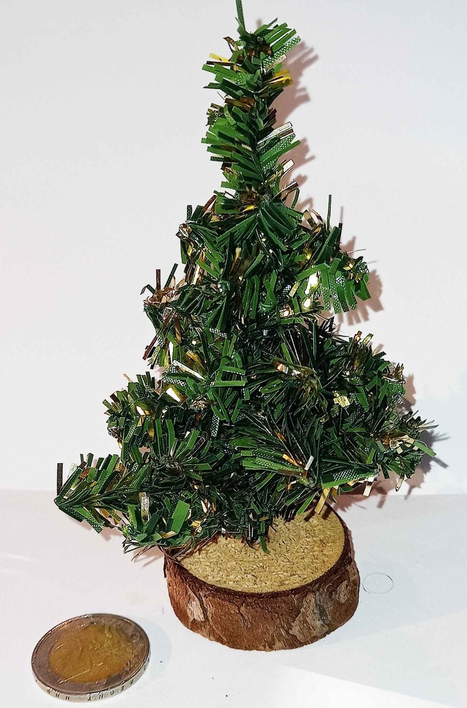 Abete albero di Natale finto piccolo per presepe diorami