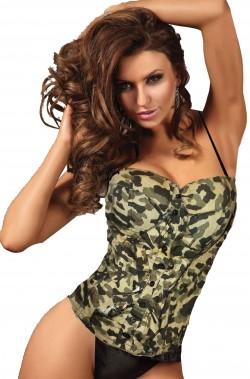Corsetto da donna bustino militare mimetico camouflage