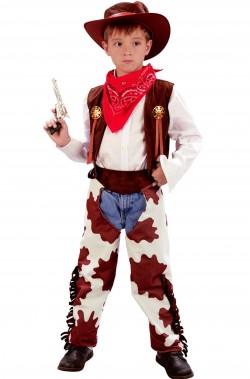 Vestito di carnevale da cowboy bambino completo