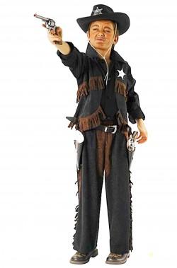 Costume di carnevale bambino cowboy pistolero nero