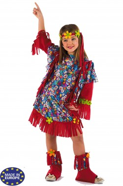 Vestito carnevale bambina figlia dei fiori anni 70