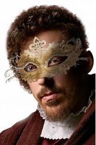 Maschera di carnevale di metallo color oro carnevale di venezia