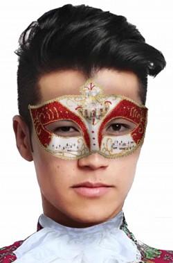 Maschera di carnevale veneziano Mozart economica