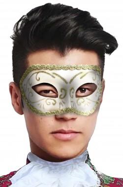 Maschera veneziana bianca e oro