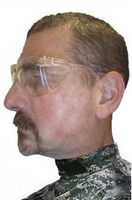 Occhiali trasparenti di plastica tipo tiratore scelto