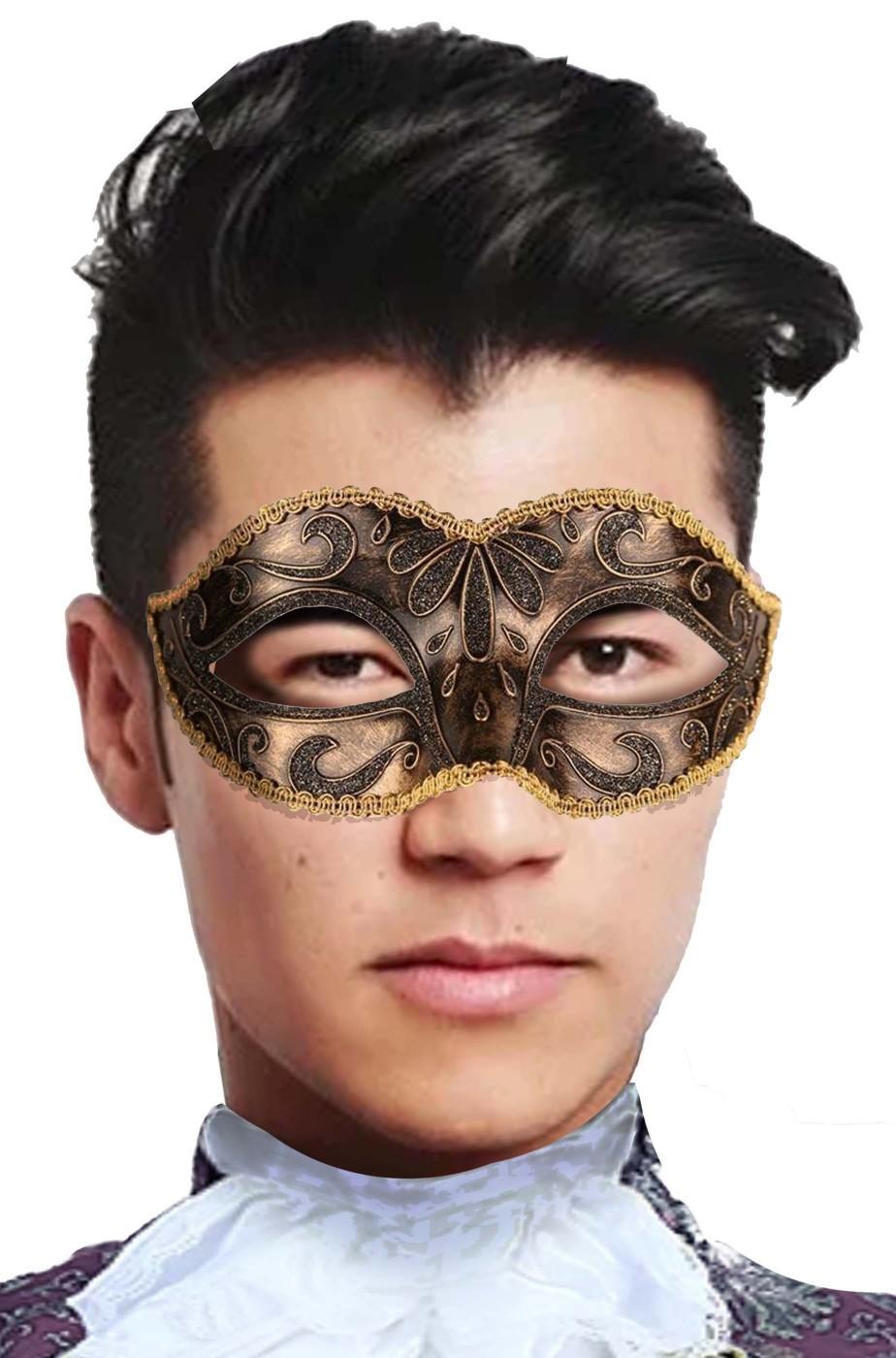 Maschera carnevale veneziano bronzo