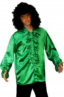 Camicia anni 70 verde con...