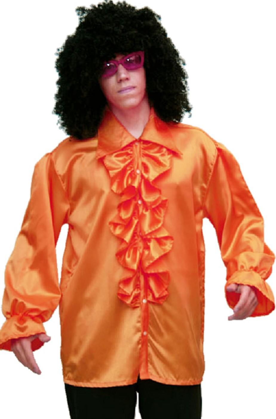 Camicia anni 70 uomo arancione