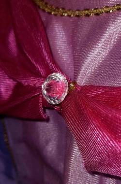 Diamante finto vestito di carnevale damina rosa