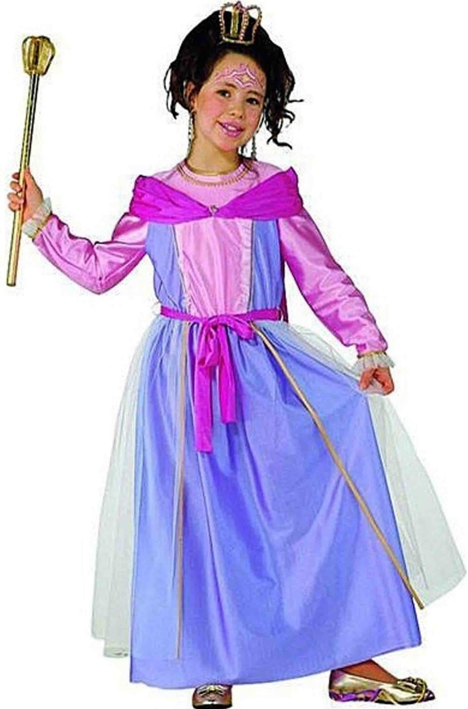 Vestito di carnevale principessa rosa bambina damina
