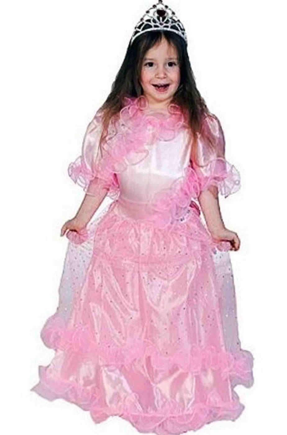 Vestito di carnevale da principessa rosa