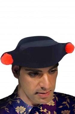 Cappello da torero economico con pom pom rossi