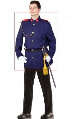 Giacca uniforme blu livrea di gala da principe azzurro