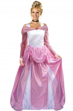 Vestito di carnevale da principessa rosa  peach adulta