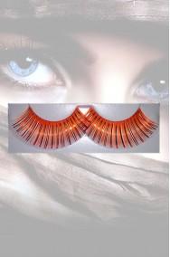 Ciglia finte arancioni lunghe riflettenti