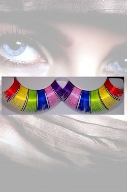 Ciglia finte arcobaleno gay pride
