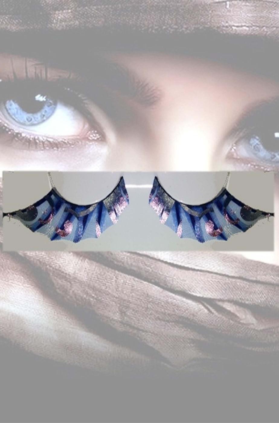 Ciglia finte nere ed azzurre pipistrello batwoman