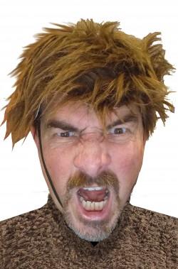 Parrucca marrone lupo mannaro facile da indossare