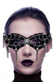 Maschera carnevale dark punk gotica con catene e borchie