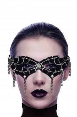 Maschera carnevale dark punk gotica con catene