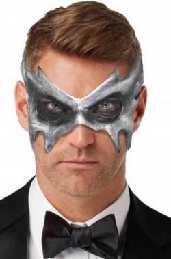 Maschera di carnevale grigia elegante fantasma