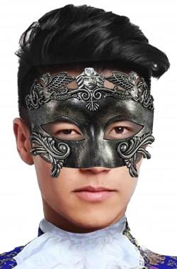 Maschera di carnevale veneziano elegante grigia