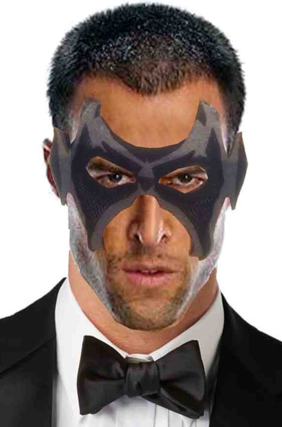Maschera di carnevale morbida grigia da uomo