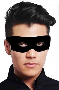 Maschera di carnevale da zorro nera